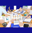 business people and papers vector image