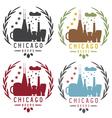chicago beer festival vintage emblems set vector image