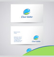 clear water logo identity vector image