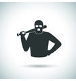 Criminal hoodlum icon vector image