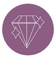 diamond luxury isolated icon vector image