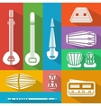 flat Indian instruments vector image