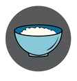 healthy food icon porridge blue plate vector image