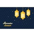 Holy month muslim Ramadan Kareem flat vector image