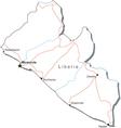 Liberia Black White Map vector image
