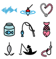 logo icons fishing vector image