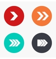 modern arrow colorful icons set vector image