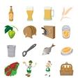 Oktoberfest beer cartoon icons set vector image
