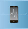 pulse rate on the smart phone screen vector image