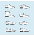 set icons of flat classical man shoes vector image