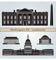 Washington DC landmarks and monuments vector image
