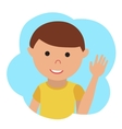 drawing of icon little boy in the cloud vector image
