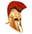 trojan helmet vector image vector image