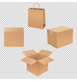 shipping box vector image
