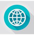 Earth Globe icon flat design vector image vector image
