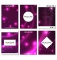 Modern design for brochure booklet flyer cover vector image
