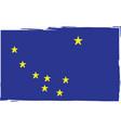 abstract alaska flag or banner vector image