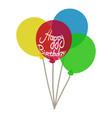 balloon icon isometric 3d style vector image