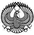 falcon symbol of horus black white vector image