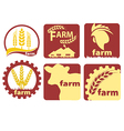 Farm Two-color Icon Set vector image
