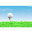 Golf ball on a tee simple golf background vector image