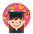 graduate student happy vector image