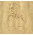 Retro Christmas Deer vector image