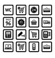 Supermarket services vector image