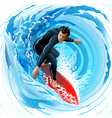 The Surfer vector image