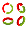 Sign exchange isometric swap green and red arrows vector image