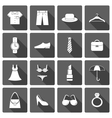 Clothes accessories shoes icons set vector image