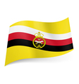 Armed Forces flag of Brunei vector image vector image