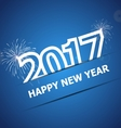 2017 Happy New Year on dark blue background vector image