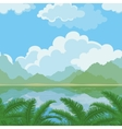 Seamless landscape sea and plants vector image