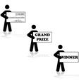Grand prize winner vector image