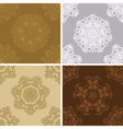Set of seamless vintage pattern vector image