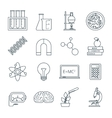 Science icons outlined icons set vector image