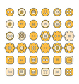 Set of sewing buttons of different shapes vector image