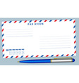 Envelope and pen vector image vector image