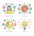 Flat line Technical Support Digital Marketing vector image vector image