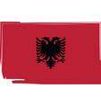 abstract albania flag or albanian banner vector image