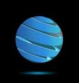 Abstract blue bubble 3d logo design vector image