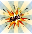 Bang Comic Speech Bubble Cartoon vector image