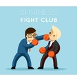 Business fight club vector image