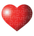 colorful heart shaped puzzle graphic vector image
