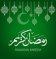 green background with lanterns vector image