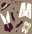 retro fashion seamless pattern vector image