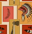 Seamless pattern of American Indians symbols vector image