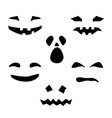 silhouette of scary smug smiles for pumpkin vector image