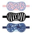 Sleeping mask set vector image